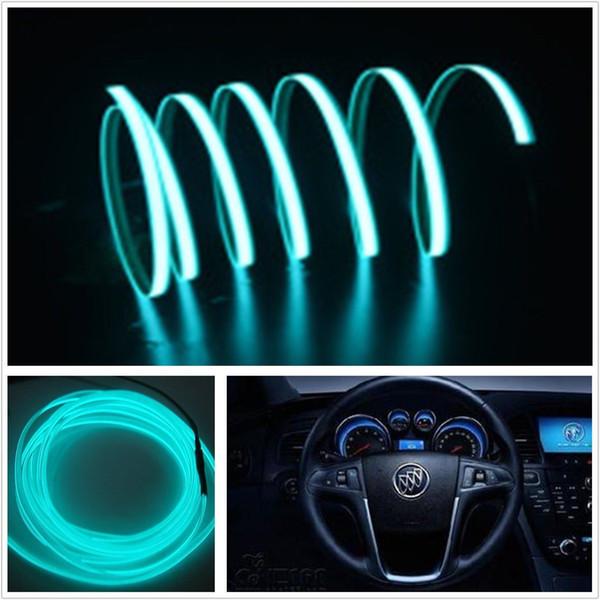 Ice Blue 2m El Wire Car Suv Unique Decor Fluorescent Strip Neon Lamp ...