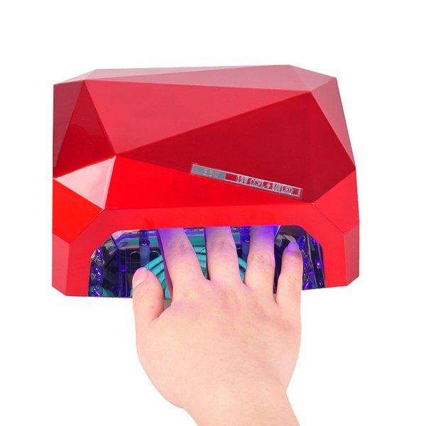 36 W Secador de Uñas 4 Color Diamante en forma de Lámpara UV LED Lámpara de Uñas LED CCFL Curado para Uñas de Gel UV Polaco Nail Art Tools