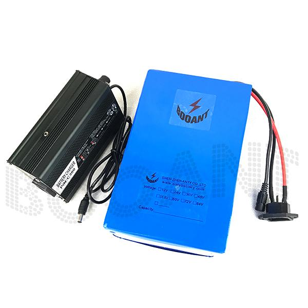 booant duty to eu us e-bike li-ion battery 1800w 48v 35ah for bafang motor electric bike battery with 50a bms 5a charger