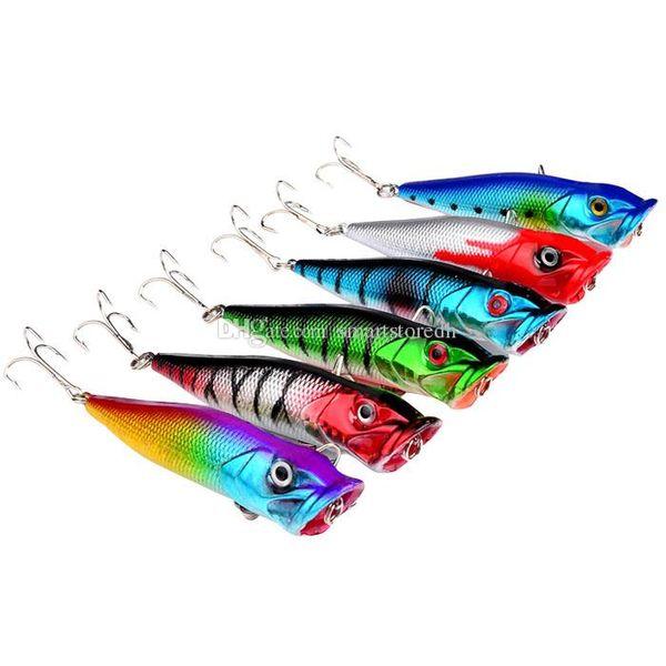 6Pcs Fishing Lures Crank Lure Bait Crankbait Tackle 4# Hooks 8cm 12.7G F00370 SPDH