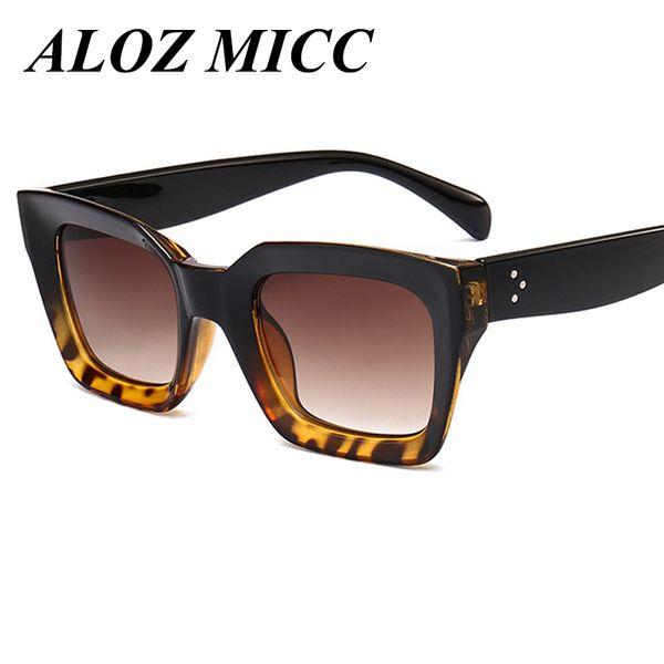 ALOZ MICC Marka Sıcak Moda Serin Güneş Kadınlar Erkekler Loves Kare Çerçeve Yüksek Kalite Gözlük 2017 Yeni Trendy Kadın Güneş Gözlükleri UV400 A229