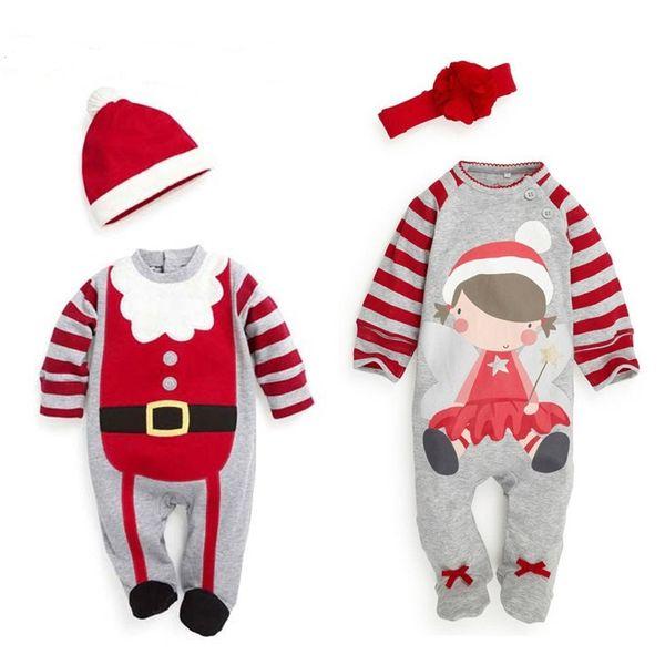 children christmas pjs coupons santa infant rompers baby boys girls xmas snowflakes deers rompers babies