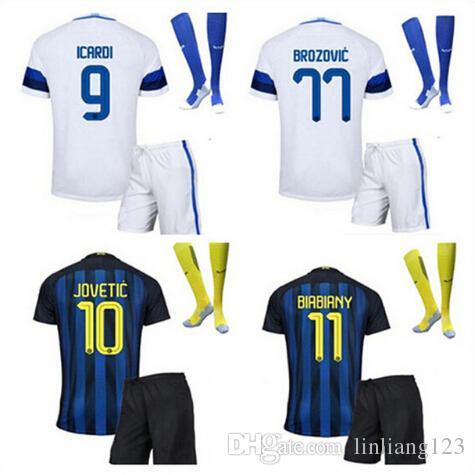 best service 9277d eb17d 2019 Mixed Team DHL 2016 2017 Inter Milan Kit + Socks Suit Jersey 16 17  JOVETIC BIABIANY EDER PERISIC MEDEL PALACIO ICARDI KONDOGBIA Free Ship Ho  From ...