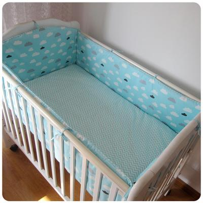 Promotion! 6PCS Child Bedding Sets Crib Sets,Baby Crib Cot Bumper, (bumpers+sheet+pillow cover)