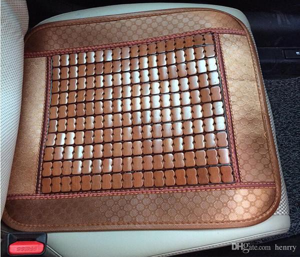 Hogar universal de verano de tapicería de bambú del bloque Cojines de bambú retro cuadrado Cojines de automóvil de verano para el frío refrescante Asiento para el automóvil de caja pequeña refrescante