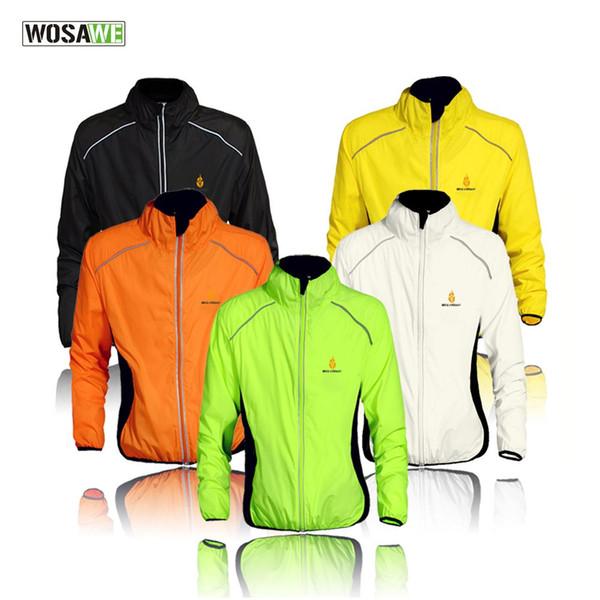 Wosawe à prova de vento ciclismo jaquetas homens mulheres equitação ciclo impermeável clothing bicicleta manga comprida jerseys mangas colete casaco de vento