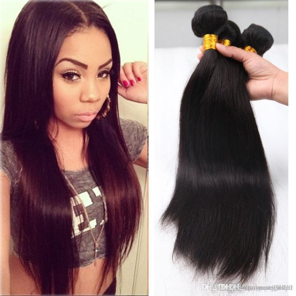 Mocha hair company maylasian hair straight 3 pcs lot No Shed No Tangle malaysian wowigs virgin hair straight Human hair weave