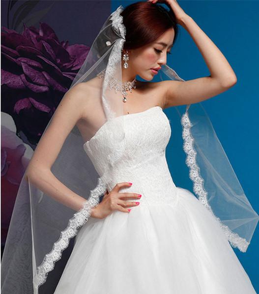 2016 New Dress Bride Wedding Accessories Elegant Long Veil White Ivory Wedding Veil One-tier Fingertip Veils Wedding Veil Comb