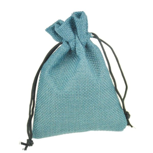 9x12cm Small Jewelry bags Jute Drawstring Bags with Pouch Sack Favor Gift package bags for Weddings Parties and Receptions