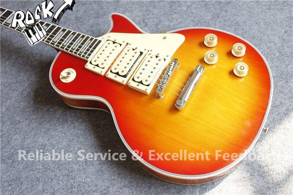 Custom Shop Ace Frehley Budokan Signature Cherry Sunburst Electric Guitar 3 Pickups Lightening Bolt Fingerboard Inlay In Stock For Sale