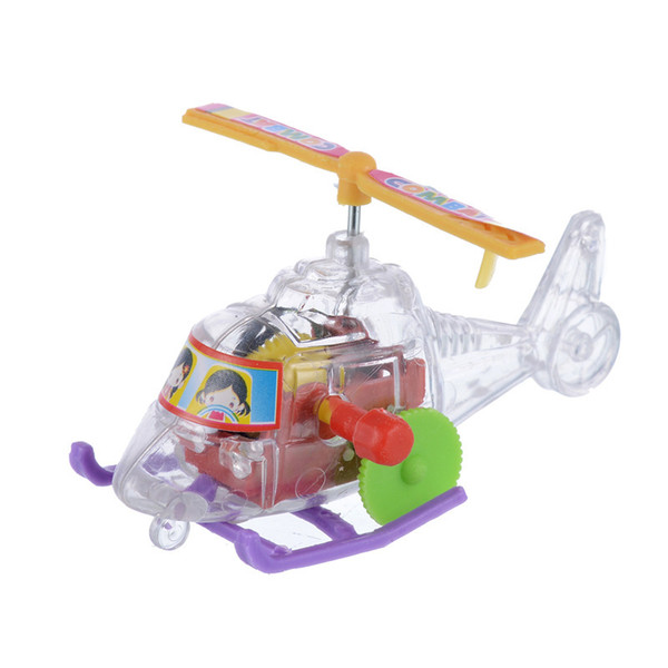 Sell like hot cakes baby creative chain wind-up aircraft flying the new mini helicopter children children toys wholesale