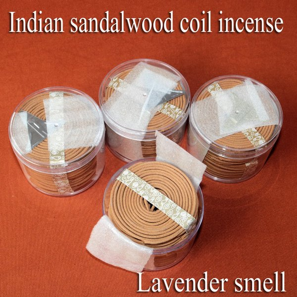 Wholesale Lavender Flavor Indian Sandalwood Coils Incense 4hour 48coils  Natural Aromatic Fragrance Home Office Toilet Deodorize Clean Air Copper