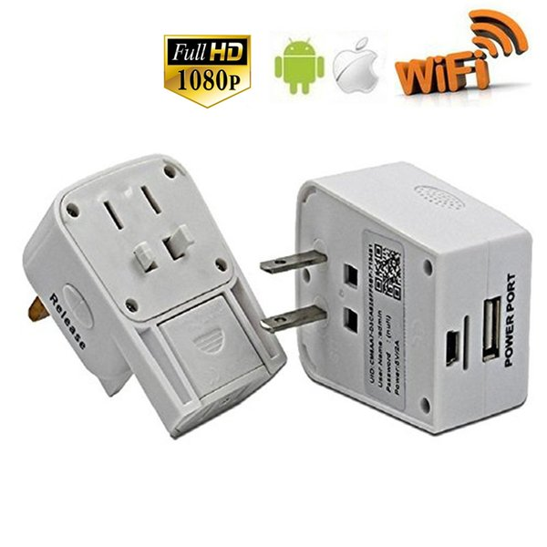 32GB HD 1080P Wifi Network Camera Socket Mini Camera Travel Adapter Video Recorder Wireless Security Camcorder for IOS Android Remote View