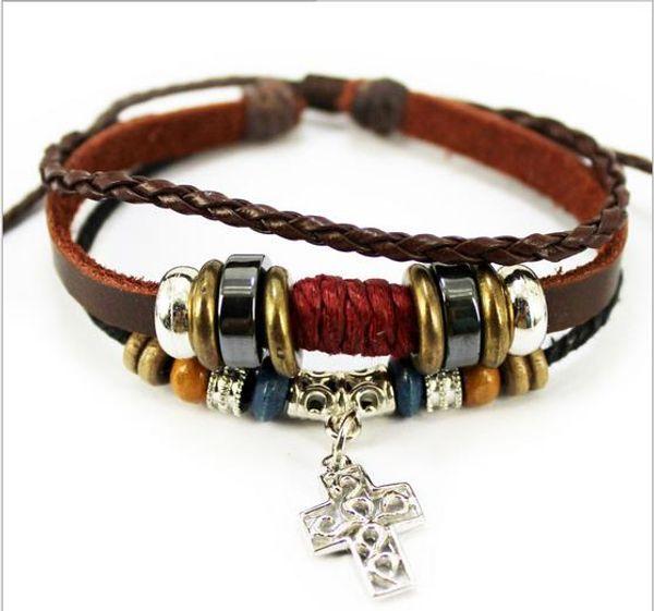 top popular Mix 8 colors Design Bracelet green natural stone bracelet handmade leather bracelet For Women 2021