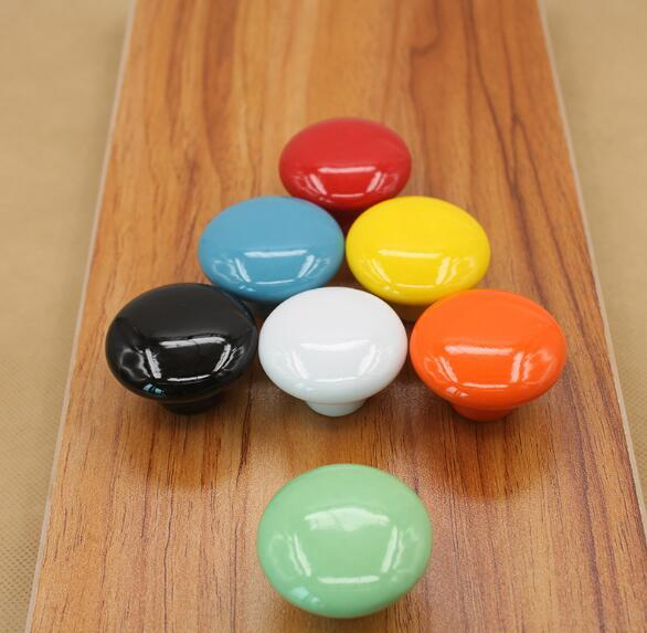 Cabinet, wardrobe drawer, shoe handle, seven color ceramic handle, modern European style cabinet drawer, ceramic handle