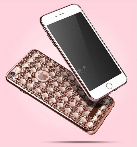 Di alta qualità di lusso placcatura del paraurti tpu cassa del telefono custodia antiurto morbida copertura in oro argento oro rosa per iphone free dhl