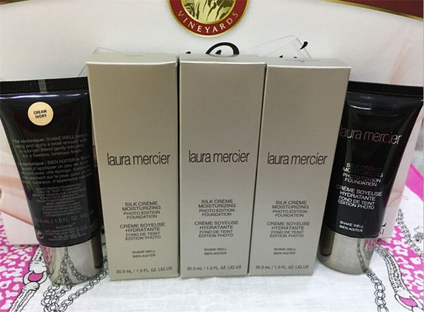 New Branded Cosmetics Laura Mercier Silk Creme Foundation Primer 30ML 3 Shades Basic Face Makeup Primer bb creams