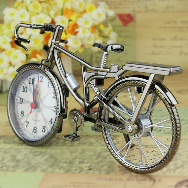 Creative Art Bike Shape Clock Children Kids Bicycle Alarm Clock For Home Decoration