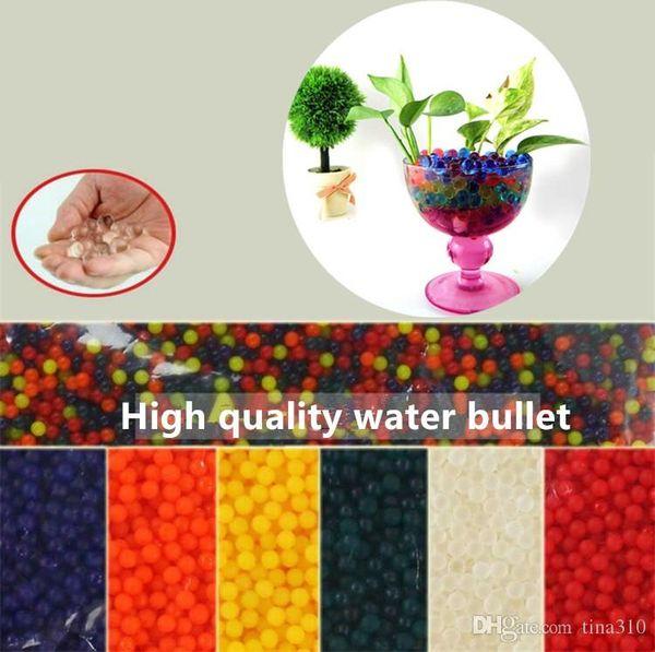 New 10000 PCS/bag Colorful Crystal toys Bullet Soft Water Gun toys Bullet Bibulous Bullet 9-11mm toys Bullet4141-6