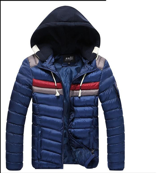 British Stylehot SALE free shipping brand new Winter Mens Boys Hooded Coat Zip Cotton Warm Jacket Outwear SIZE M-3XL