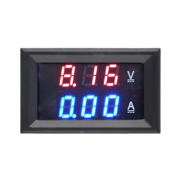 Wholesale-Free shipping DC 100V 10A Voltmeter Ammeter Blue + Red LED Amp Dual Digital Volt Meter Gauge hot sell
