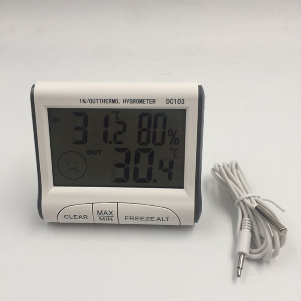 Household Digital Thermometer Hygrometer with LCD Screen Useful Indoor and Outdoor Max Min Temperature Humidity Measuring Device