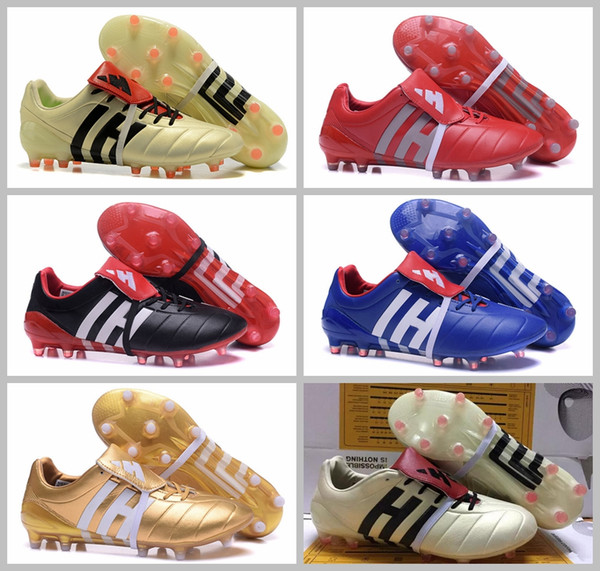 2017 soccer cleats outdoor Predator Mania Champagne FG shoes High Quality cheap Soccer Cleats Black Gold Red mens Football boots 39-45