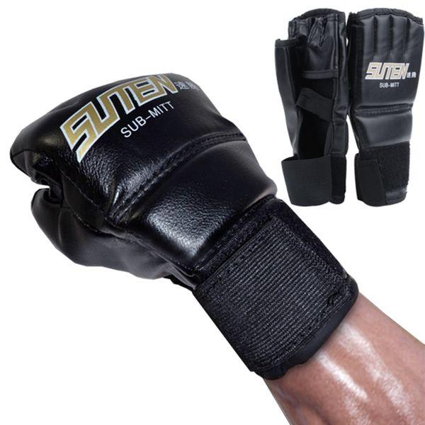 New Leather Half Finger Fight Mma Boxing Gloves Mitts Sanda Karate Sandbag Taekwondo Protector Mma Muay Thai Kick Boxing Gloves Gear
