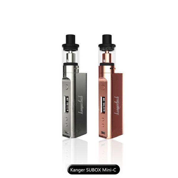 genuine kanger subox mini-c kit with 50w kbox mini-c mods topfill 3.0ml e-juice protank 5 tank ssocc 0.5ohm coil put 1pc 18650 battery