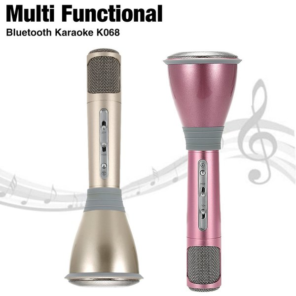 Magic Karaoke MicroPhone K Song Portable Wireless Micro phone Bluetooth Speaker Power Bank Outdoot KTV for Android iPhone with retail box