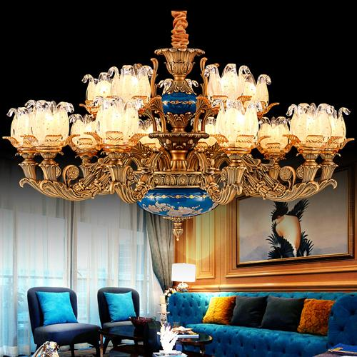 Chandeliers pendant lights led European American French luxury royal retro led chandelier led pendant lights for hotel villa home decoration