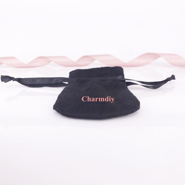 Black Jewelry Velvet Pouches Bags For DIY Style Jewelry Charm Bead Necklace Earrings Ring Pendant Packaging New Arrival Hot Selling