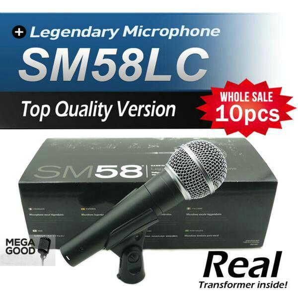 microfono 10 stücke Hochwertige Version SM 58 58LC SM58LC Karaoke Hand Dynamisches Kabelmikrofon Echter Transformator Innerhalb Mic freies mikrafon