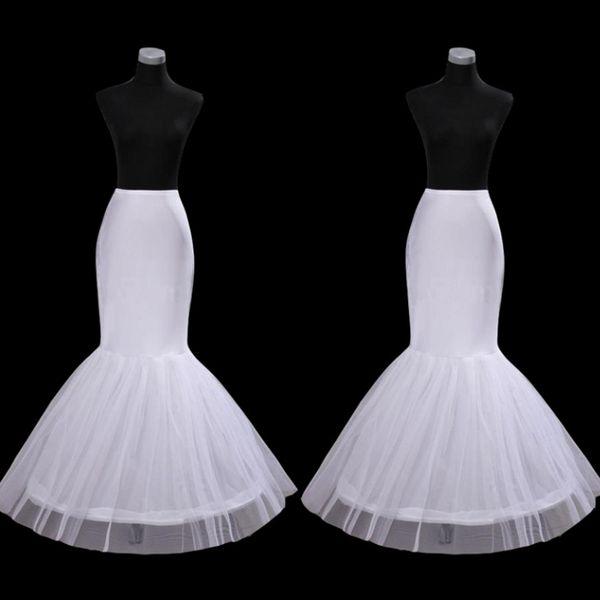Free Shipping Mermaid Petticoat Slip 1 Hoop Bone Elastic Wedding Dress Crinoline Trumpet Hot Sale