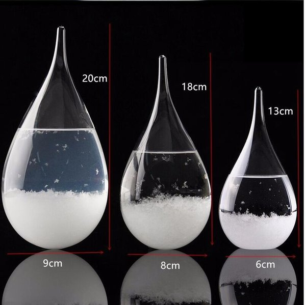 Weather Forecast Crystal Tempo 3 sizes Drops Water Shape Storm Glass Weather Predictor Bottle Christmas Craft Arts Gifts