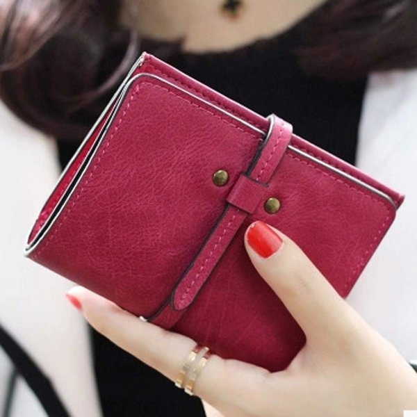 Wholesale- Excellent Quality Women Short Wallets Ladies Small Wallet Coin Purse Female  Wallet Purses Money Bag Christmas Gift