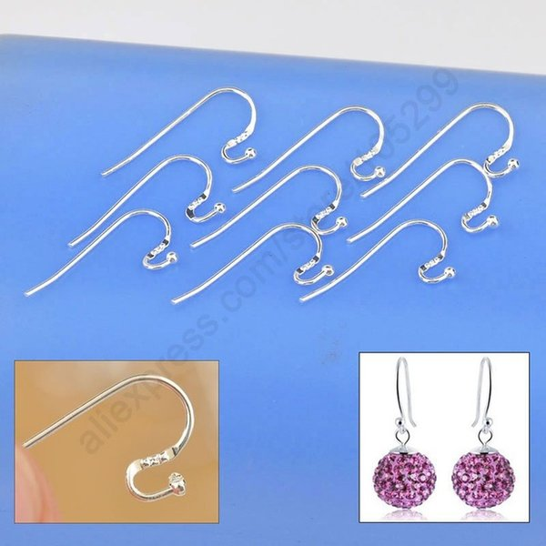 best selling Newest New Arrival Earring Findings Genuine 925 Sterling Silver Jewellery Ear Wire S Ball Hooks DIY Handmade Collections