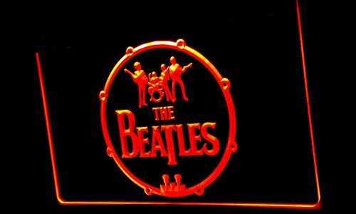 LS152-b de los Beatles música de banda Tambores luz de neón