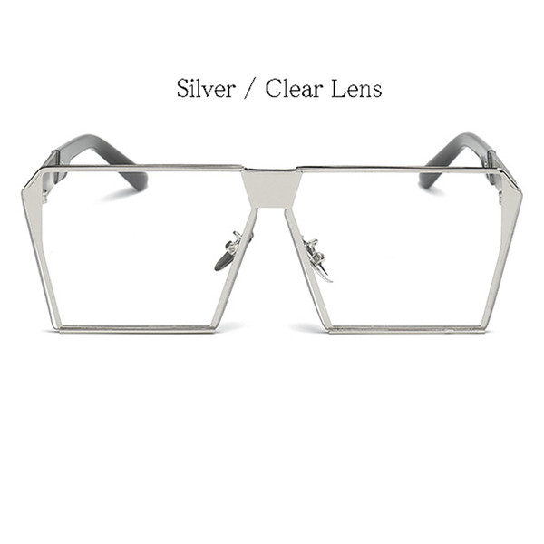 Silver Frame Lens Clear