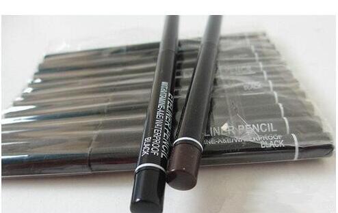 best selling 60PCS Lot Pro Makeup Rotary Retractable Black& BrownGel Eyeliner Beauty Pen Pencil EyeLiner