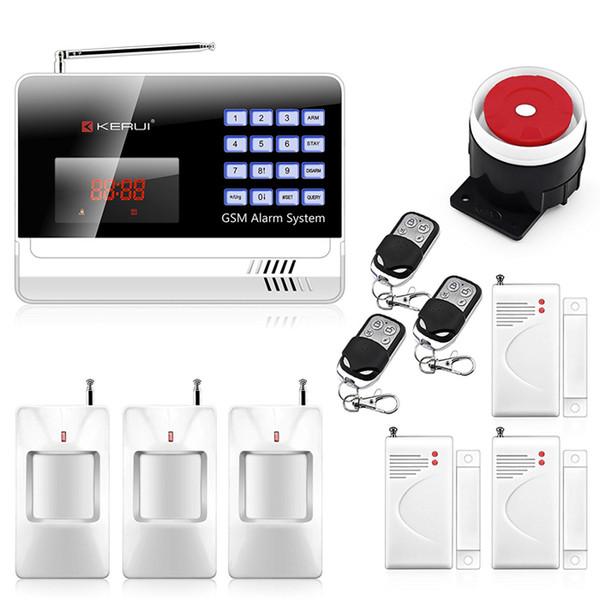 GSM охранная сигнализация черный цвет N6120G домашней беспроводной для iOS Android контроля