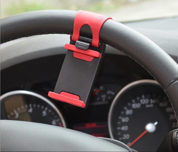 Evrensel Araba için Streing Direksiyon Cradle Tutucu AKıLLı Klip Araba Bisiklet Montaj Mobil iphone samsung Cep Telefonu GPS Noel Hediyesi