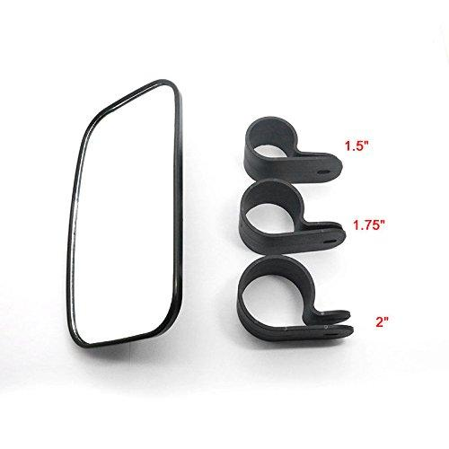 Utv Rear View Mirror >> 2019 Utv Rear View Mirror Ampper Center Side Mirrors Set With Abs Housing And Multi Clamps For Atv Utv Golf Cart Fit For 1 37 2 Roun From