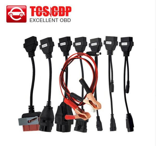 top popular Hot selling CAR CABLE OBD OBD2 full set 8 car cables diagnostic Tool Interface cable for all model TCS cdp plus multidiag pro wow snooper 2019