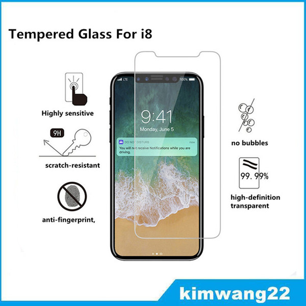 best selling For iPhone 8 Tempered Glass Screen Protector For Iphone8 Iphone X Edition Film 2.5D 9H Anti-shatter Paper Package