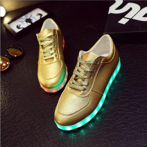 LED Shoes In Golden color