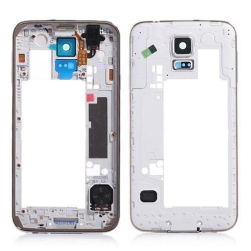 Kostenlose ShippingLCD Middle Plate Gehäuse Rahmen Lünette Kamera Abdeckung für Samsung Galaxy S5 G900F G900M G900H G900S G900K, (Gold)