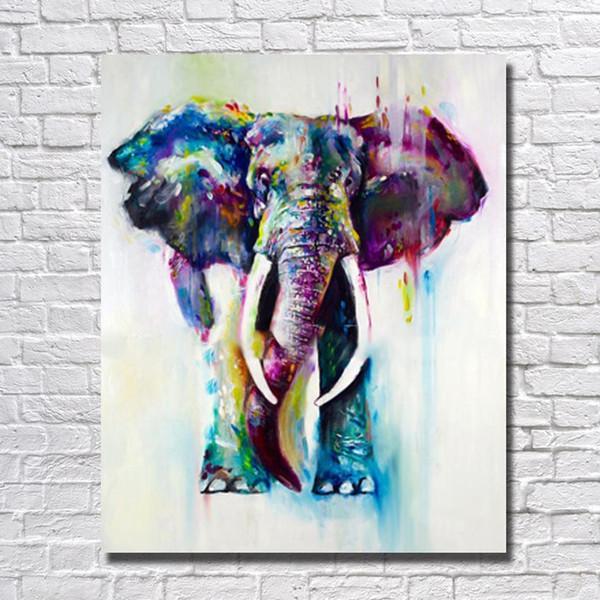 African Art Painting Elephant