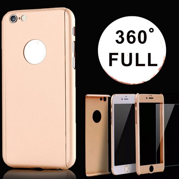iPhone SE 360 Degree Full Body Protection Hybrid Armor Cover Case For iPhone5 6/6S/6 plus 6S Plus Hybrid Hard PC+Tempered Glass