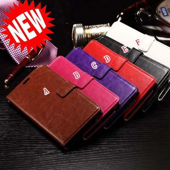 Custodia portafoglio in pelle retrò Crazy Horse per Iphone 7 I7 Plus Custodia Samsung Galaxy J1 Mini J210 LG X Power V20 copertura Huawei Mate9 ID Card